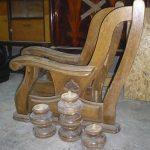 Accotoirs de canapé en chêne récupérés pour fabrication