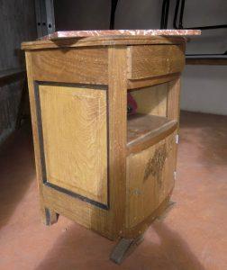Chevet 1950 en chêne - avant restauration