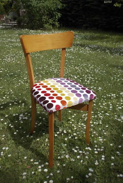 Chaise bistrot rénovée