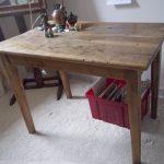 Table de ferme avant restauration