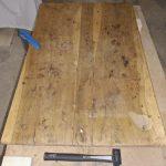 Table de ferme plateau avant restauration