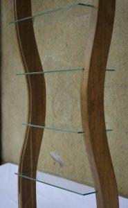 Etagère créée en up-cycling - vue de trois-quart ondulation