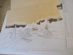Marqueterie - dessin