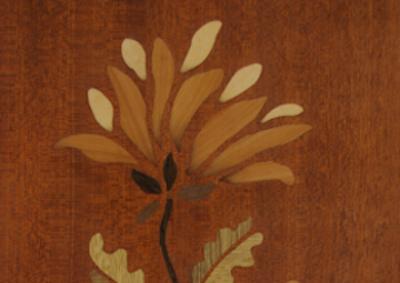 Chevet Louis-philippe plateau marqueté