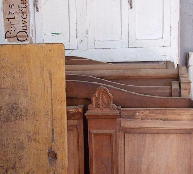 Récupération de pièces de bois, de meubles