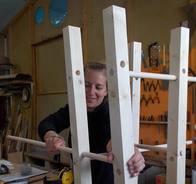 Stage à l'atelier, fabrication d'un tabouret