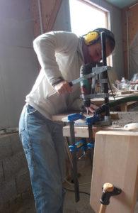 Atelier Magalie - Perçage des emplacements de barreaux